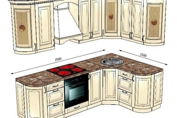 Кухня  из массива ясеня