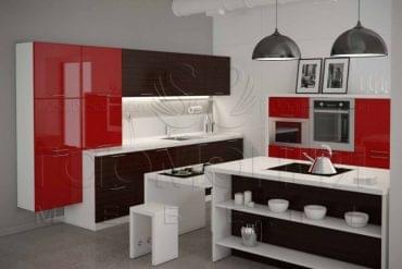 Кухни Гармония, Кухня Квадра, купить кухню в Смоленске, заказать дизайн кухни, скидономания