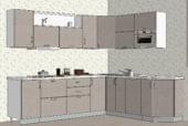 Светлая угловая кухня из МДФ - изображение 1